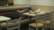 Schlafen in Fastfood-Läden