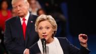 Für viele eine American horror picture show: Hillary Clinton und Donald Trump