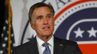 Kein Ja-Sager: Mitt Romney bei der Bekanntgabe seiner Kandidatur für Utahs Senatssitz am Freitag