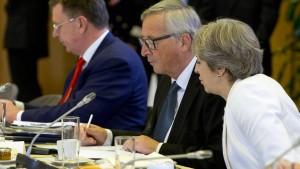 EU beklagt gestreute Informationen zum May-Besuch