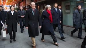 Theresa May unterzeichnet Pekings Papier nicht