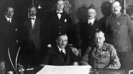 Eine Partei stimmt gegen den Friedensvertrag