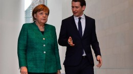 Merkel und Kurz für besseren Grenzschutz