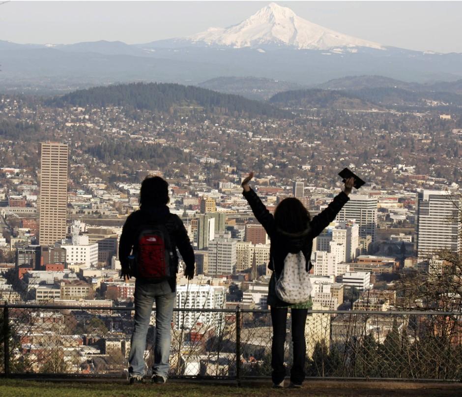 Wir wollen Teil einer Jugendbewegung sein! Blick vom hippen Portland auf den Mount Hood