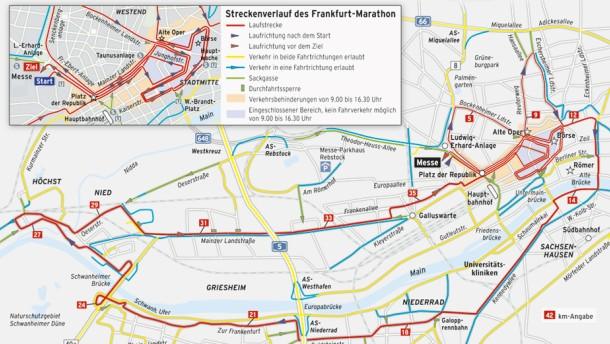 Innenstadt wegen Marathons gesperrt