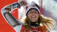 """""""Das kann doch nicht wahr sein"""": Etser Ledecká gewinnt Gold im Super-G."""
