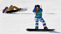 Spektakuläres Finale im Snowboardcross