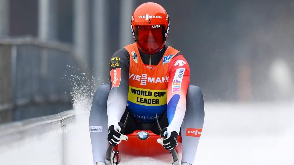 Ärgerlich: Felix Loch ging als Führender in den zweiten Lauf. Bei dessen Zieleinfahrt ist er nur noch auf dem elften Platz.