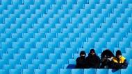Olympia in der Berg-Einsamkeit: Die Alpinrennen wurden vom Publikum links liegengelassen.