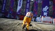 Olympia läuft schon, in Krasnaja Poljana wird aber noch gebaut