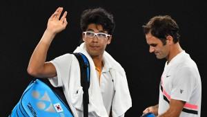 Federer-Gegner muss aufgeben