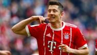 Ein Wechsel zum spanischen Klub Real Madrid wäre derzeit eher unwahrscheinlich: Bayerns Robert Lewandowski.