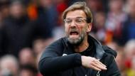 Jürgen Klopp verlor mit dem FC Liverpool bei Manchester United.