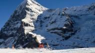 Kleiner Skifahrer, großer Berg: Dreßen carvt vor prächtiger Kulisse um die Kurve
