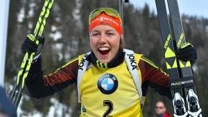 Laura Dahlmeier gewinnt erstmals den Biathlon-Gesamtweltcup
