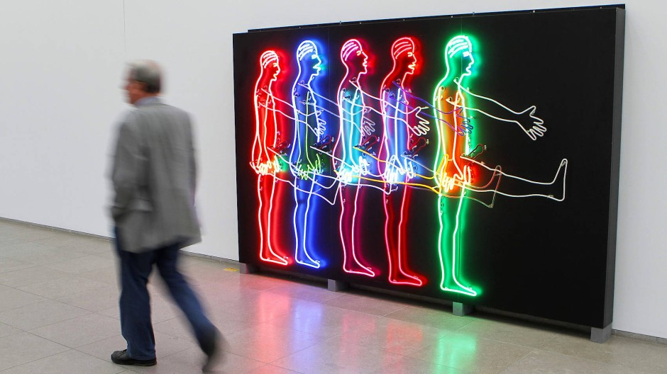 "Bruce Nauman: ""Five Marching Men"" (1985)"