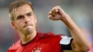 Philipp Lahm übernahm in seiner Sportlerlaufbahn viel Verantwortung. Beim FC Bayern München war er Kapitän. Hier jubelt er 2015 in Wolfsburg.