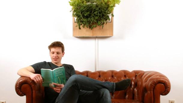 vertikaler garten f r indoor kommt ohne sonne und erde aus. Black Bedroom Furniture Sets. Home Design Ideas