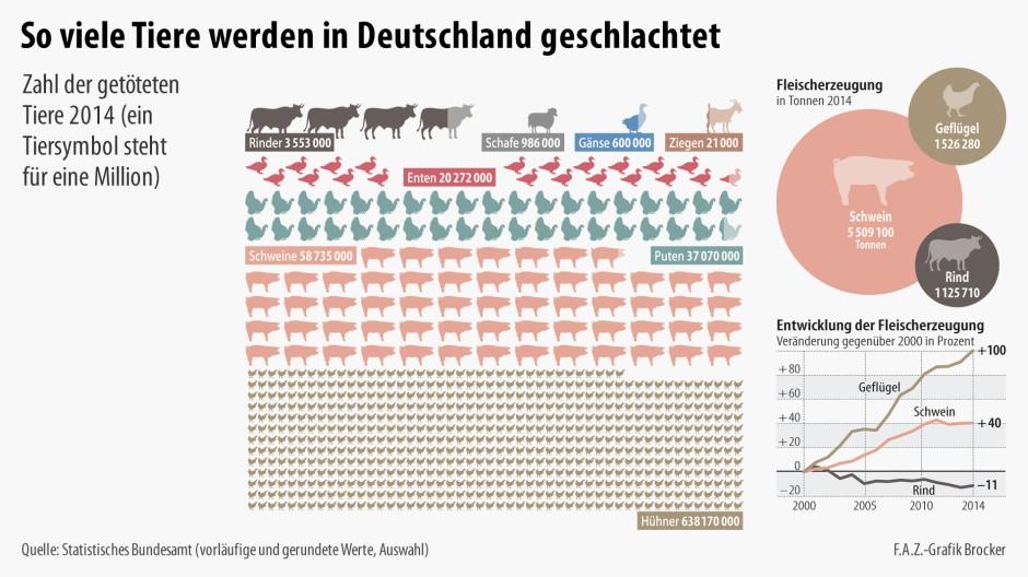 Fleischproduktion Deutschland