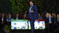 Extravaganter Chef: Marc Benioff führt Salesforce ins Rampenlicht.