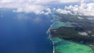 Mauritius von oben. Beliebt als Steueroase und als Reiseziel.
