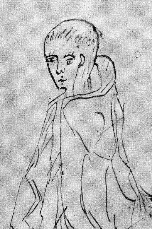 """Doctor invincibilis: William of Occam war Engländer und galt als """"unbesiegbarer"""" Disputant. Diese Zeichnung entstand 1341 und damit noch zu seinen Lebzeiten."""