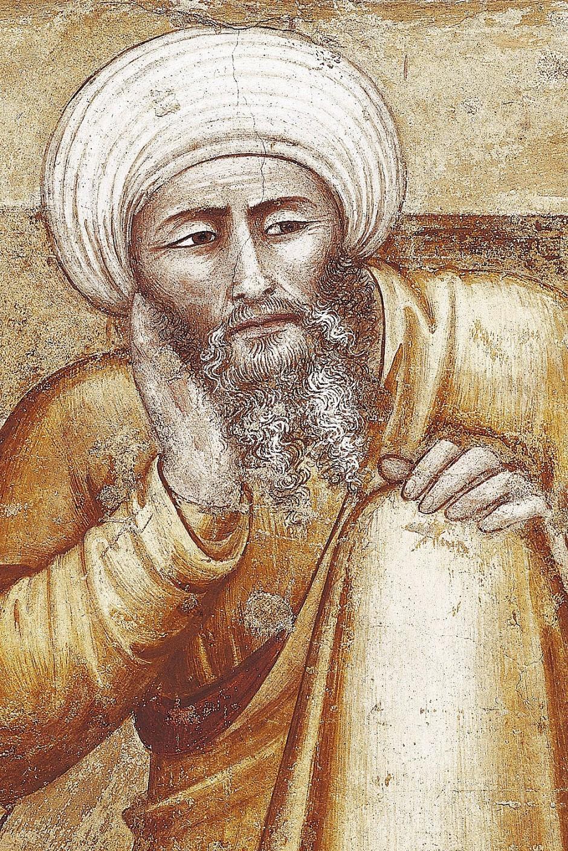 """""""Der Kommentator"""" war Mohammed Ibn Rushd alias Averroës. Seine Aristoteles-Kommentare waren für die Scholastik fast so wichtig wie die Texte des Philosophen selbst."""